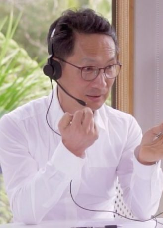 don-teaching-in-self-care-course-at-his-clinic-using-zoom