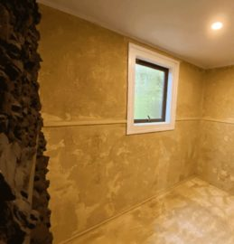 mud-spa-with-a-window-and-a-light-at-private-accommodation